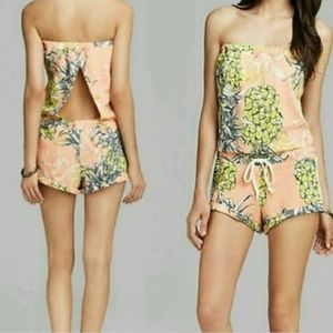 Guess Pineapple Print Romper